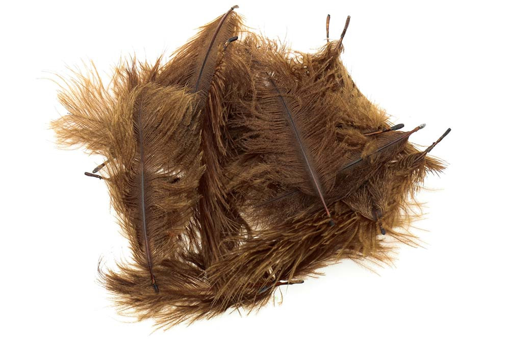 Micro Ostrich Spey Plumes -  Brown