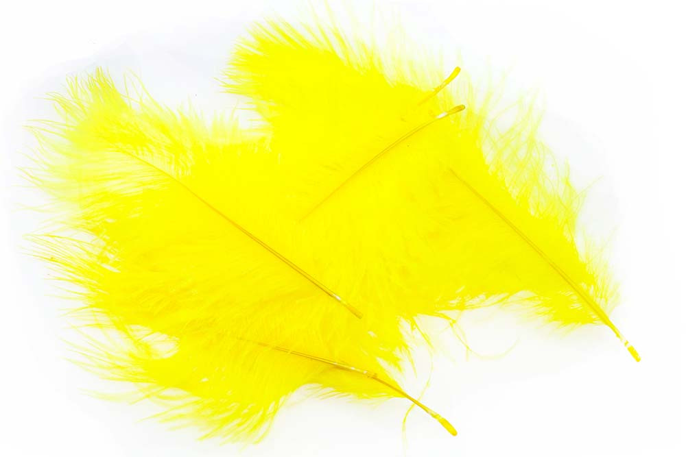 Micro Ostrich Spey Plumes - Yellow